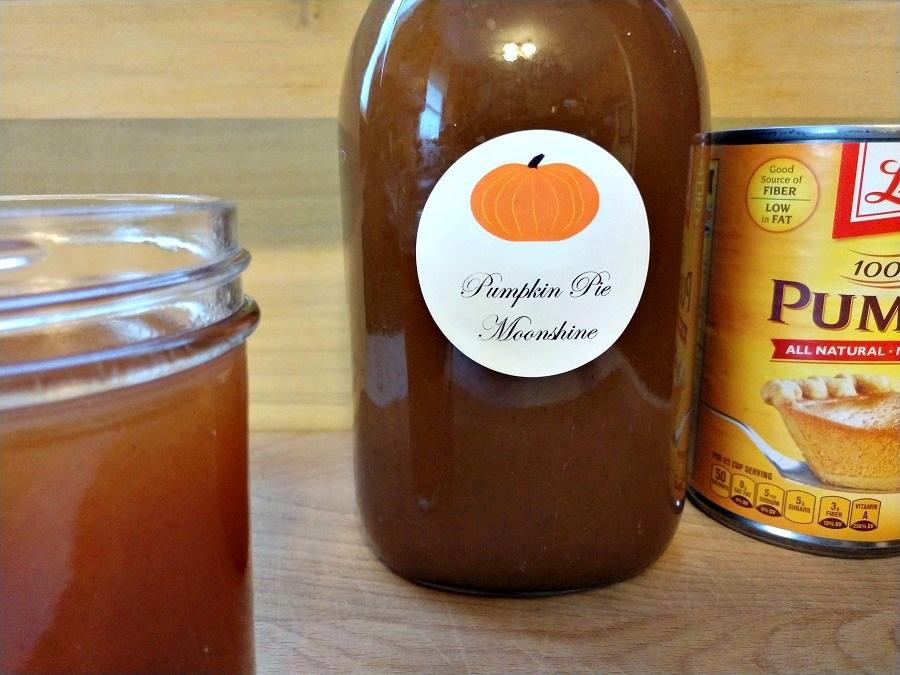 crock-pot pumpkin pie moonshine