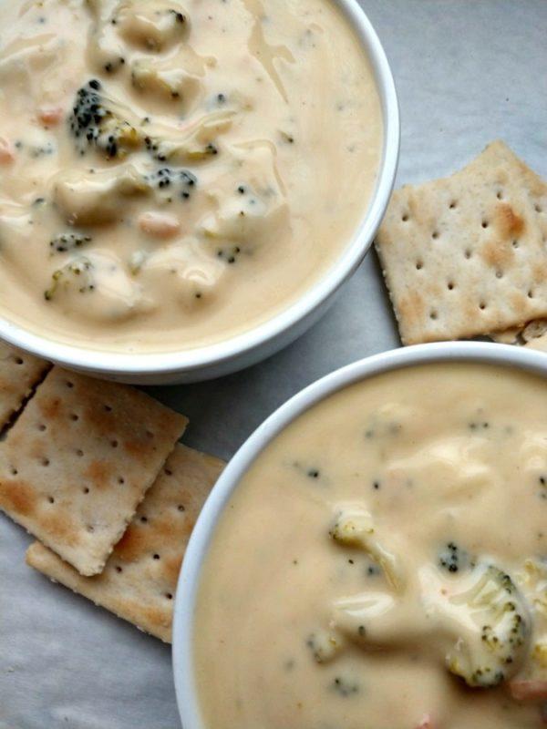 crock-pot broccoli and cheese soup