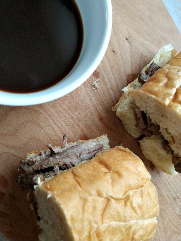 crock-pot slow roasted french dip sandwiches