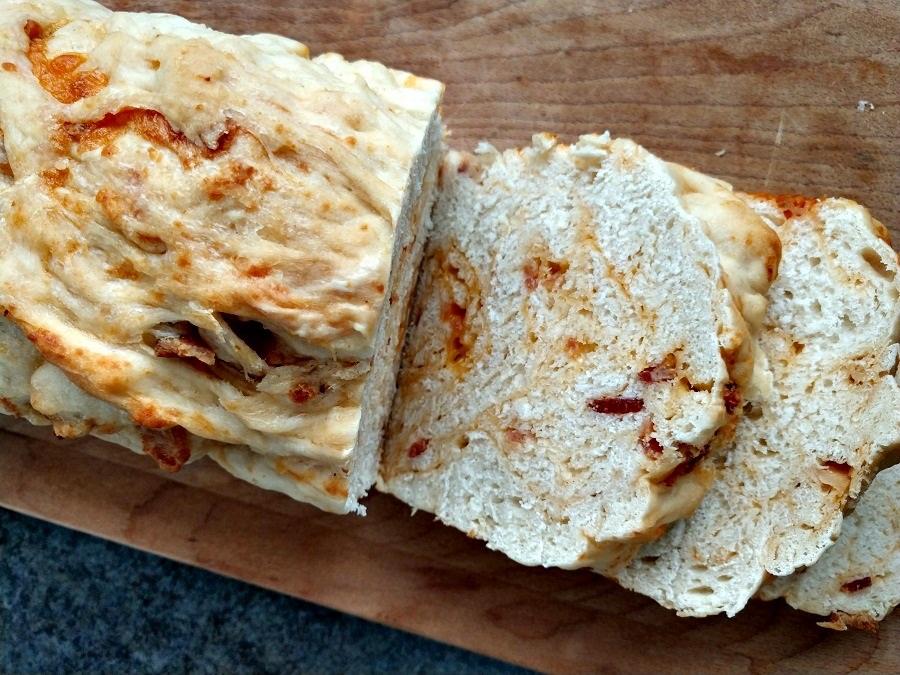 crock-pot bacon cheddar bread
