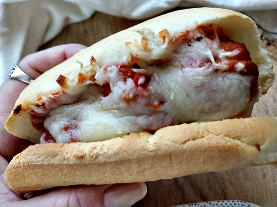 crock-pot meatball sub sandwiches