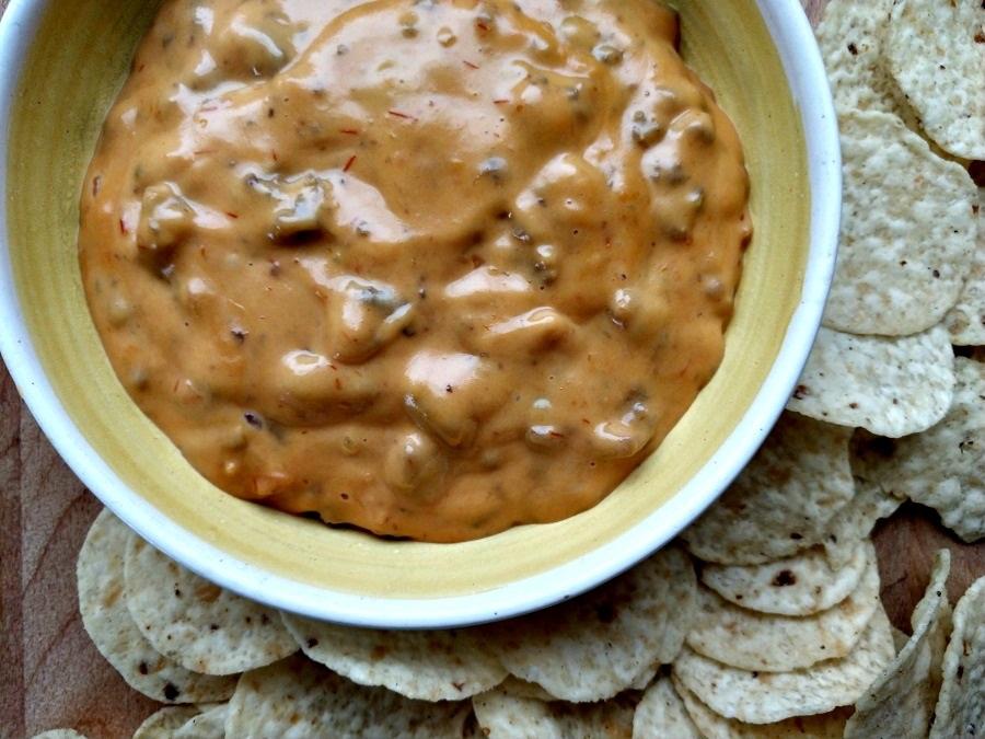 crock-pot nacho cheese dip