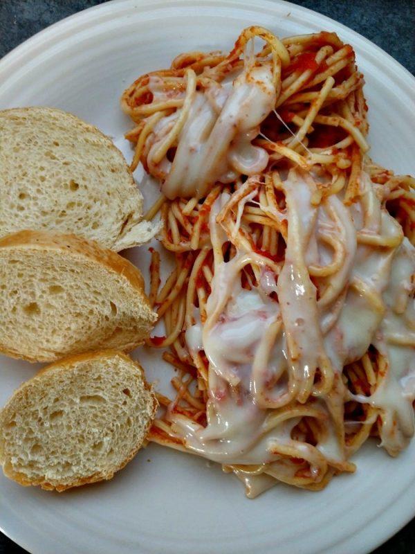 crock-pot baked spaghetti
