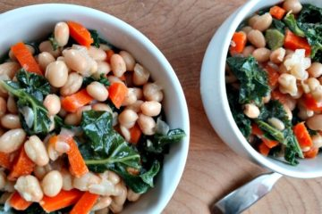 crock-pot white bean and kale soup