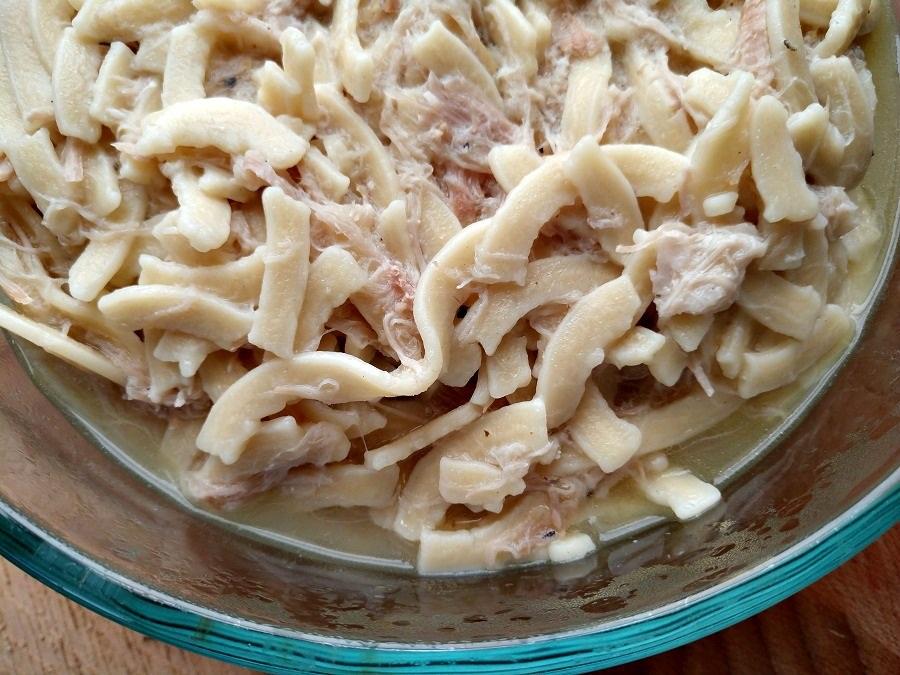crock-pot pork and noodles