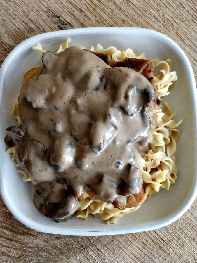 crock-pot pork chop stroganoff