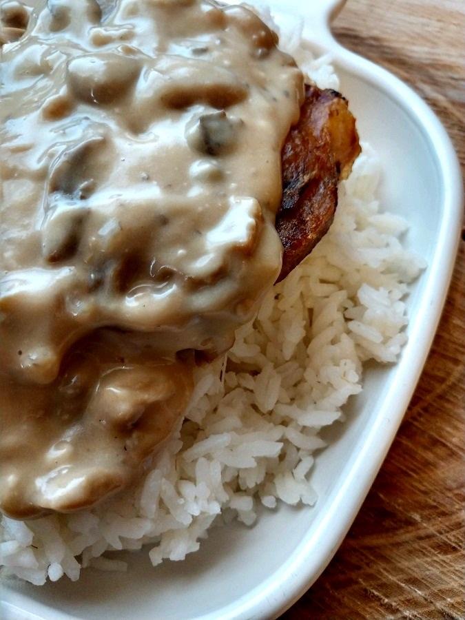 crock-pot pork chops with mushroom and onion gravy