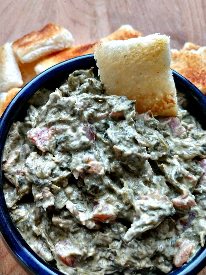 crock-pot spinach and bacon dip