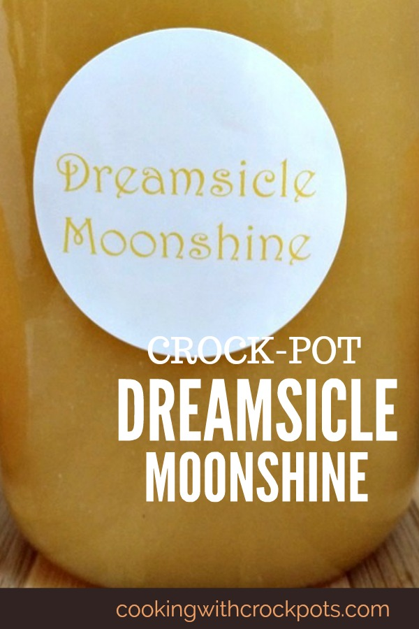 Crock-Pot Dreamsicle Moonshine