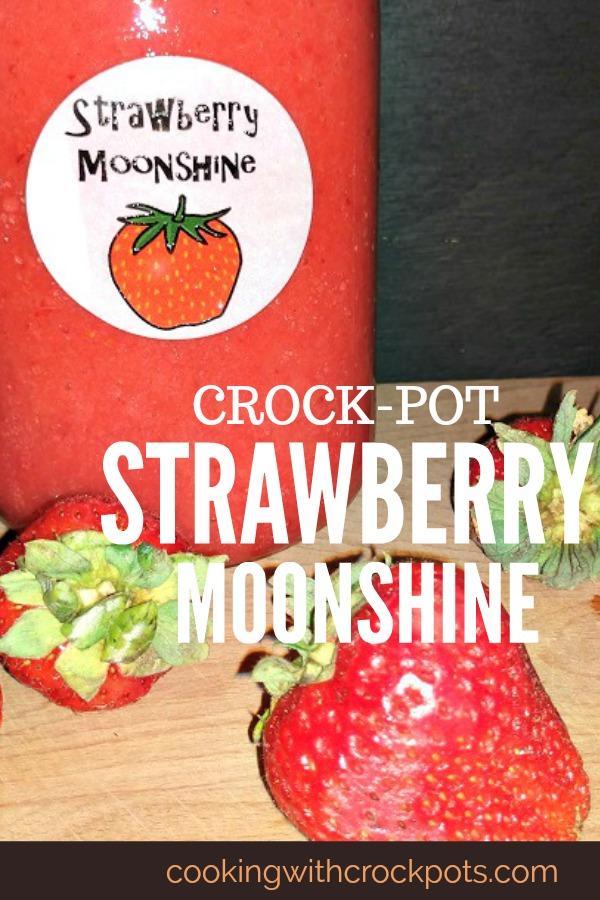 Crock-Pot Strawberry Moonshine