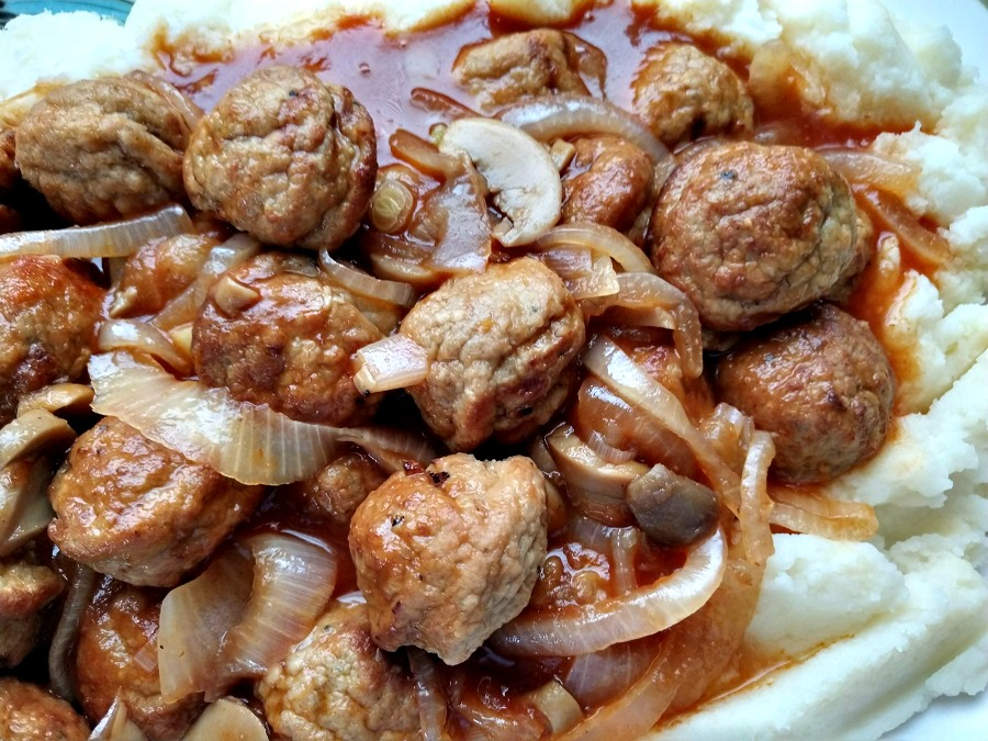 Crock-Pot Salisbury Steak Meatballs