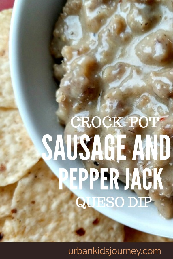 Crock-Pot Sausage and Pepper Jack Queso Dip