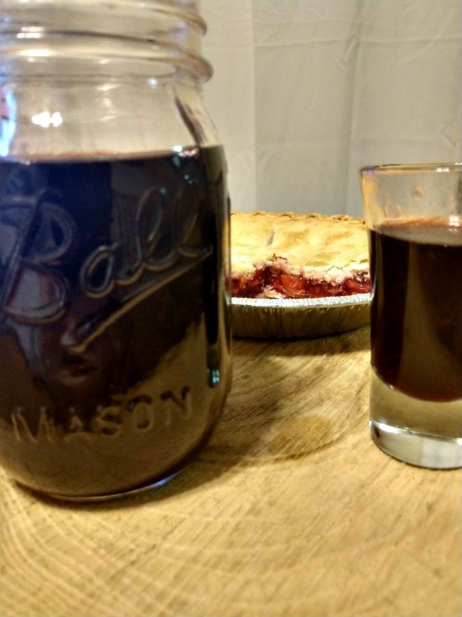 Crock-Pot Cherry Pie Moonshine